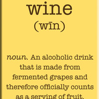 Wine. An Alcoholic drink ... Magnet