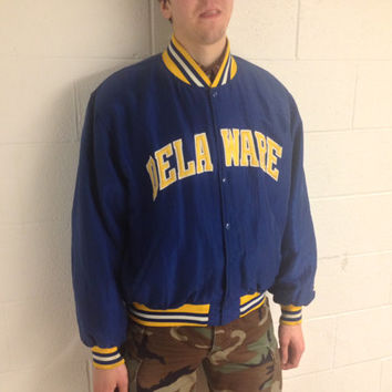 1980's Vintage University of Delaware Starter Varsity Jacket, Men's medium to large... Fighting Blue Hens