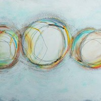 Three Rings - An Original Mixed Media Painting