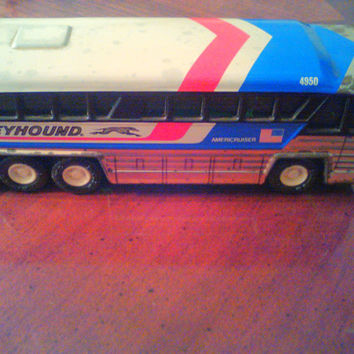 Greyhound Buddy L Bus, Vintage 1979 Toy, Metal Bus, Collectible Toy Cars, Made in Japan