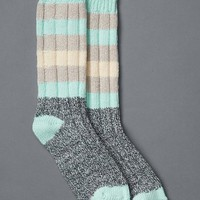 Gap Women Marled Stripe Boot Socks Size One Size - Azul