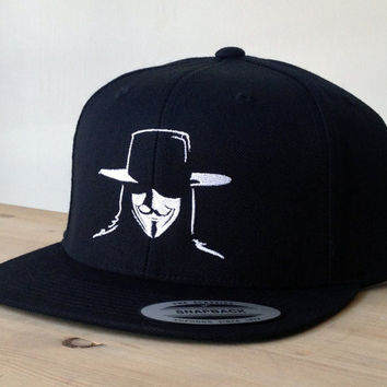 SnapBack Vendetta Hat with Custom Embroidered Logo.  Made to order quality snap back hats and designs