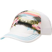 Roxy Dig This Tropical White Trucker Hat