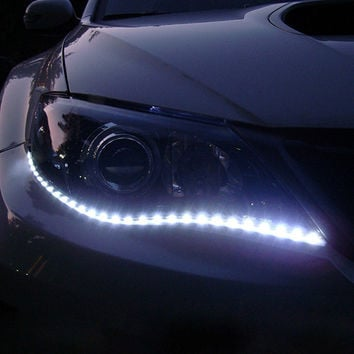 1 Pair 30cm DIY Waterproof Flexible Car Light 15SMD LED DRL Daytime Running Lights Soft Strips Car Styling Auto Decoration Lamp