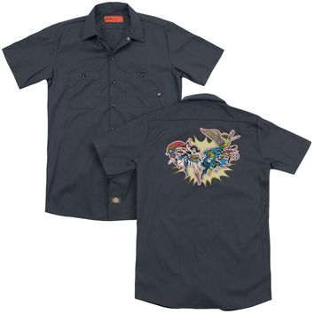 Dc - Please Get Me (Back Print) Adult Work Shirt