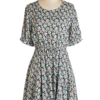 ModCloth Mid-length Short Sleeves A-line Morning Moments Dress