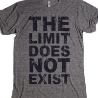 The Limit Does Not Exist-Unisex Athletic Grey T-Shirt