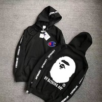 PEAPS Champion x BAPE Fashion Hoodie Top Sweater