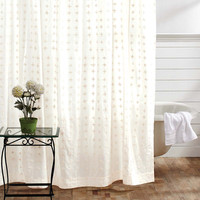 Willow White Shower Curtain
