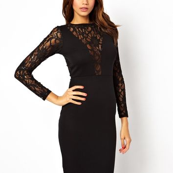 ASOS Sequin and Lace Midi Body