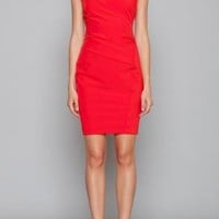 Mistletoe Kiss Gathered Shift Dress in Bright Red by Ark & Co | Sincerely Sweet Boutique