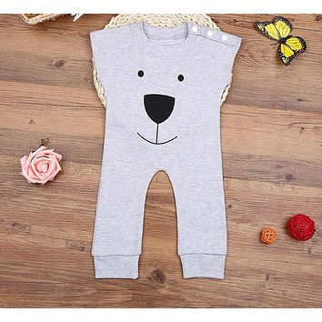 Newborn Winter Rompers Cute Toddler Baby Girl Boy Bear Jumpers Rompers Outfits Clothes