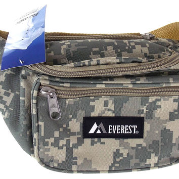 Everest Fanny Pack Camouflage Digital Camo Waist Pack 3 Zipper Compartments 46""