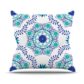 "Anneline Sophia ""Let's Dance Blue"" Teal Aqua Throw Pillow"