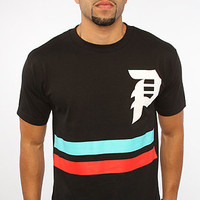 The Dirty P Stripes Tee in Black