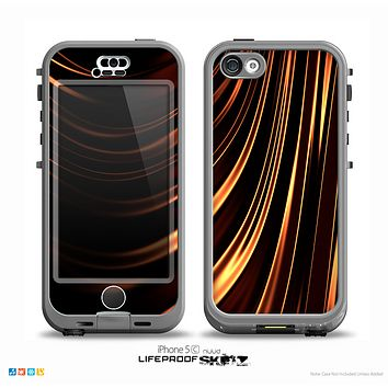 The Dark Orange Shadow Fabric Skin for the iPhone 5c nüüd LifeProof Case
