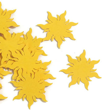 Tangled Sun Confetti - Kids Birthday Party Decorations - 100 Pieces