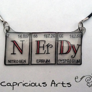 Happy Nerdy Science Geek Periodic Table of Elements by misstcalia