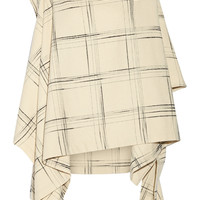 Vivienne Westwood Anglomania - Gaia checked wool-blend cape
