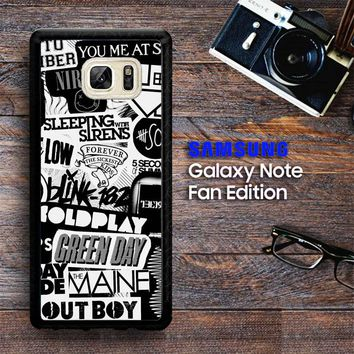 The Xx Coldplay Arctic Monkeys The Neighbourhood Sleeping With Sirens The 1975 Band Z0252 Samsung Galaxy Note FE Fan Edition Case