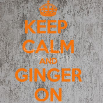 keep calm and ginger on tshirt