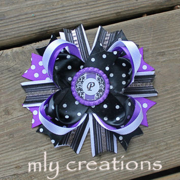 Initial Hair bow, Baby Headband, Baby Name Gift, Personalized girl, Initial Hairbow, Monogrammed Hair Bow, Monogram gift, Personalized gift