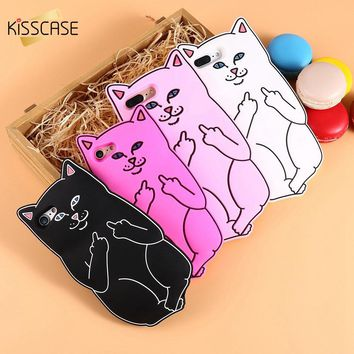 KISSCASE 3D Pocket Cat Silicone Case For iPhone 5s above