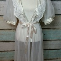 LMFXT3 VINTAGE SEXY ROBE, NIGHTY, LINGERIE. Size medium
