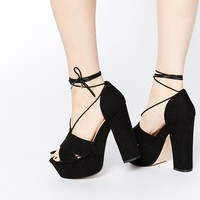 ASOS HEATH Wide Fit Platform Sandals at asos.com