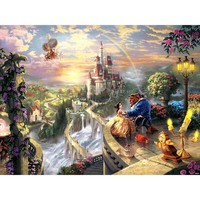 Thomas Kinkade The Disney Dreams Collection Beauty and the Beast Falling in Love Puzzle - Puzzle Haven