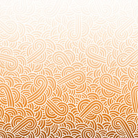 Ombre orange and white swirls doodles Fabric Fabric