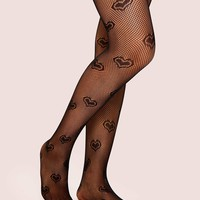 Heart Mesh Tights