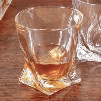 Dali Contemporary Twisted Whisky Glass Tumbler