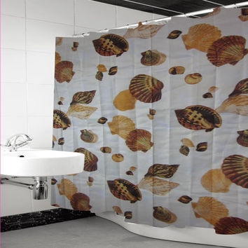 Plazatex Deluxe Shower Curtain 72 x 72 With Matching Hooks - 12 Patterns