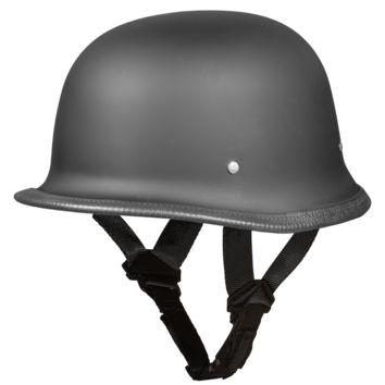D.O.T. German Helmet - Dull Black