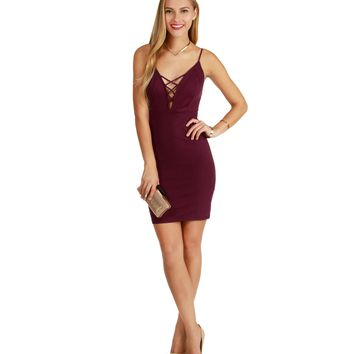 Promo- Burgundy Gossip Girl Bodycon Dress
