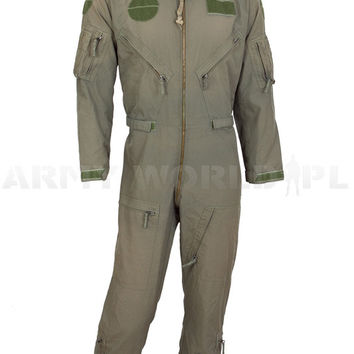 Military Pilot Coveralls Nomex Dutch Army Oliv Used