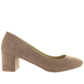 Wanted Amelia - Taupe Microsuede Pump