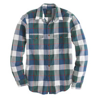 Tall flannel shirt in classic herringbone plaid - tall shirt shop - Men's shirts - J.Crew