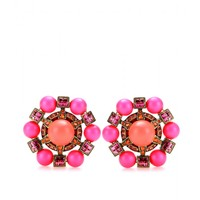 Lanvin CRYSTAL-EMBELLISHED CLIP-ON EARRINGS