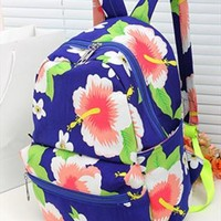 Hibiscus Flower Print Backpack from topsales