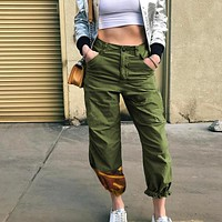 Women's Fashion Summer Hot Sale Camouflage Patchwork Training High Waist Pants [199507247119]