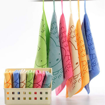 25*25cm Special Absorbent Microfiber Kitchen Cleaning Small Square Towel Bathroom car dish cloth rags 6 Colors to choose BH062