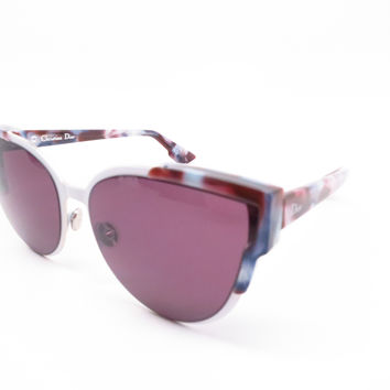 Dior Wildly Dior P7IC6 Havana White Violet Sunglasses