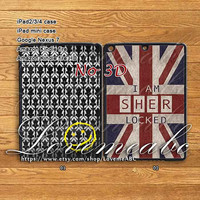 sherlock,iPad 2 case,iPad Mini Case,iPad Air Case,iPad Mini 2 Case,iPad 4,iPad 3,New iPad,iPad Air Cover,iPad Mini Cover,iPad Cover