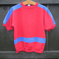Vintage 1980s Short Sleeve Sporty Sweatshirt