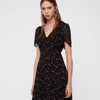 ALLSAINTS UK: Womens Lucia Star Dress (black)