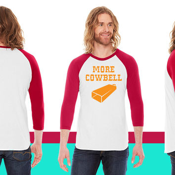 More Cowbell American Apparel Unisex 3/4 Sleeve T-Shirt