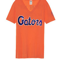 University Of Florida Bling Fitted V-neck Tee - PINK - Victoria's Secret