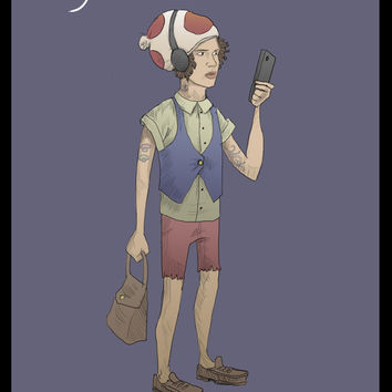Hipster Toad Art Print by Idrawcartoons